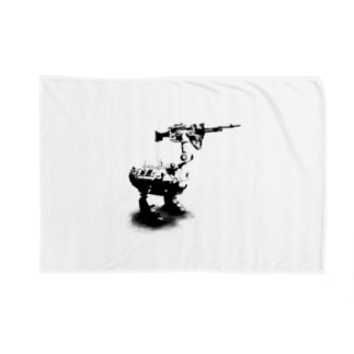 cassowary(ロゴなしモノクロロボットのみ) Blankets