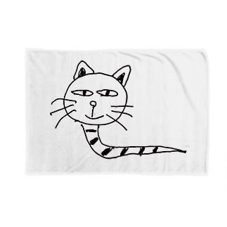 へびねこ Blankets