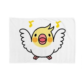 まるまるオカメインコ【まめるりはことり】 Blankets