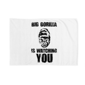BIG GORILLA IS WATCHING YOU Blankets