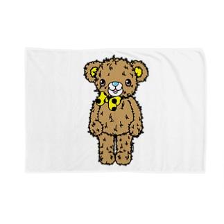 Cɐkeccooのクマのブラウン(うさぎのラビのお友達)太線 Blankets