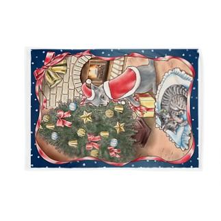 サンタパパと子猫たち Blankets