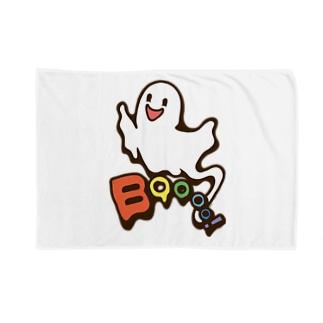 Cɐkeccooのおばけちゃんばぁ!(Boo!ゴースト)カラフル Blankets