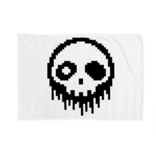 ドット絵ドクロ Blankets