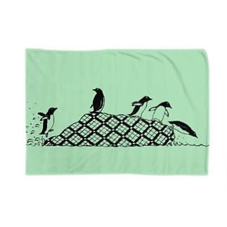 ペンギンズ グリーン Blankets