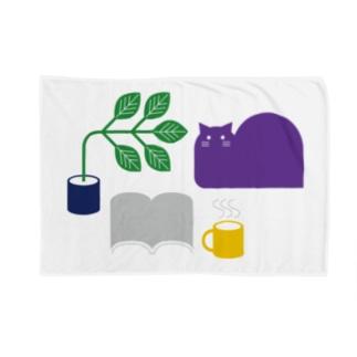 ネコリビング Blankets