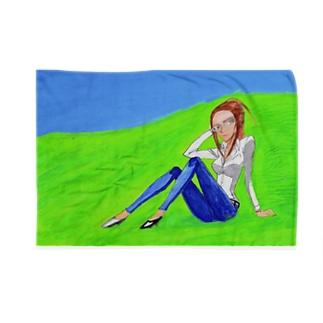 「那奈井ユキエ-煉獄の風-」ブランケット Blankets