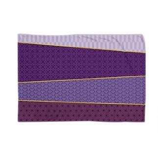 紫色の和風な模様 Blankets