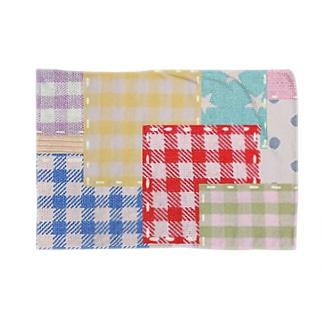 カラフルパッチワーク風♡(レッド) Blankets