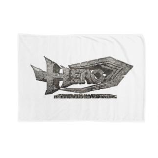 HEROバリアフリープロレスのHERO立体ロゴ Blankets
