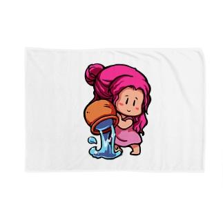 パープルのみずがめさん(水瓶座) Blankets