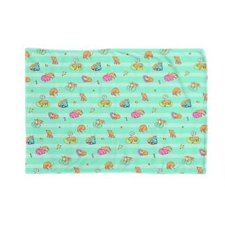 おねむ犬パターン(青) Blankets