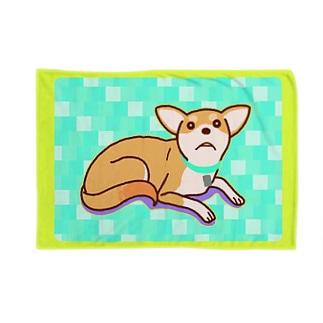 ULI_Tetoのテトさん(犬)青 Blankets