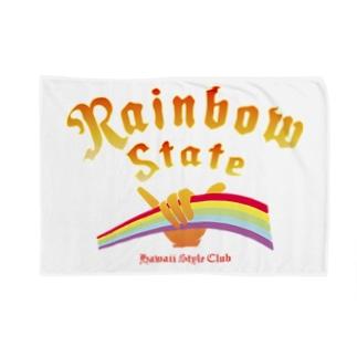 Rainbow Rising Blankets