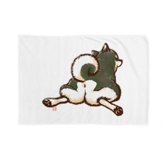 柴尻(黒柴) Blankets
