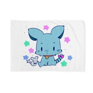 青ペットくん Blankets