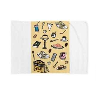 純喫茶 いろどり 背景つき Blankets
