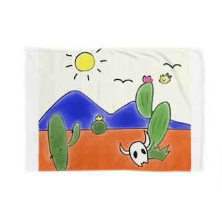 クマバチゴルフ倶楽部のクマバチとメキシカンタイル Blankets
