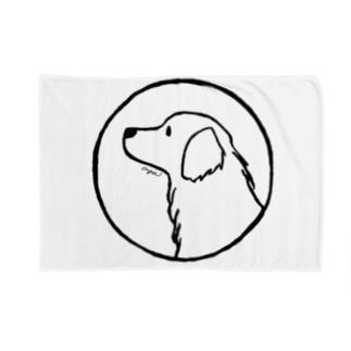 aya1のゴールデン・レトリーバー〈線・円〉 Blankets