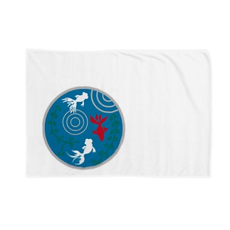 ジャパニーズスタンダードの金魚・丸 Blankets