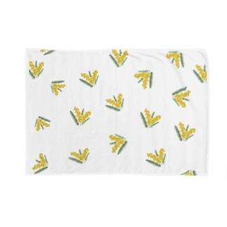 オリジナルミモザランダムプリント Blankets