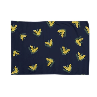 オリジナルミモザドット【ネイビー】 Blankets