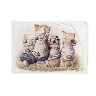 Momojiの犬画のチワワ8 Blankets