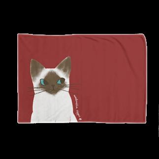 Cafeあんぶれらしっぽのシャム猫のいっちゃん Blankets