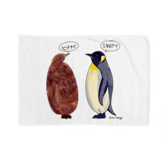 オウサマペンギンのヒナと1年目 Blankets