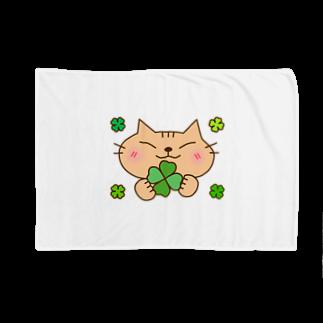 eigoyaのクローバーと茶トラ猫 Blankets