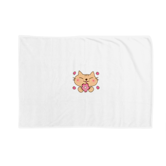 eigoyaの桜と茶トラ猫 Blankets