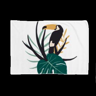SANKAKU DESIGN STOREのあったかい国の鳥。 Blankets