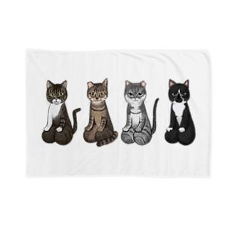 [チャリティ]正座猫チーム Blankets