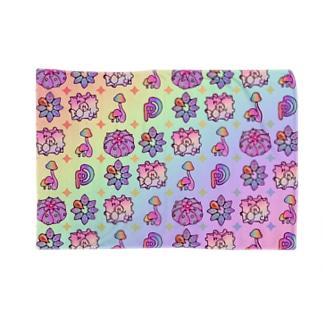 サイケちゃんパターン レインボー Blankets