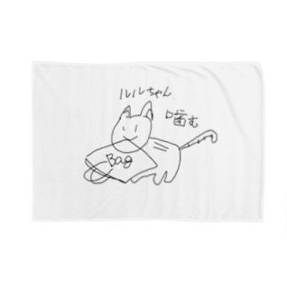 ルルちゃん噛むbag Blankets