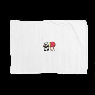 ル.ボヌールの和太鼓パンダちゃん Blankets