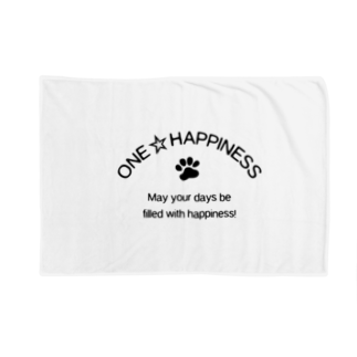 onehappinessのONE☆HAPPINESS Blankets