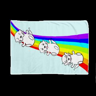 カワウソ フレンズのレインボー ブルー ▼ カワウソ フレンズ Blankets