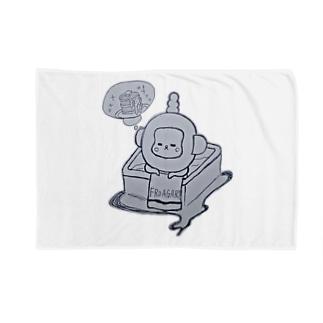 入浴中 ふろあがりちゃん Blankets
