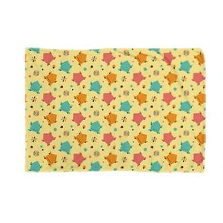 カエル折り紙パターン Blankets