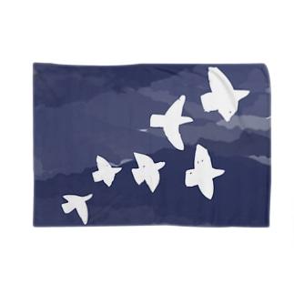 toriネイビー 北欧 Blankets