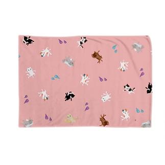おばケット<踊る猫又> Blankets