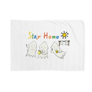STAY HOME モンゴイカ Blankets