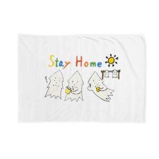 モンゴイカンパニー 販売部のSTAY HOME モンゴイカ Blankets