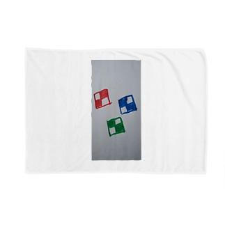 チェックな四角 Blankets