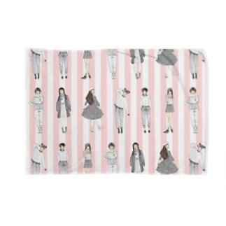しましまガールズ(ピンク) Blankets