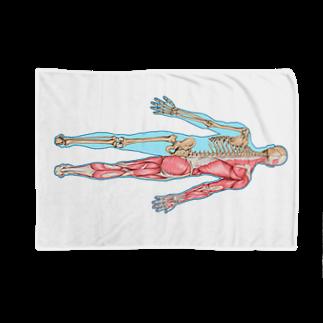 24shopの人体後面図 Blankets