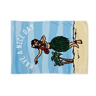 hula girl Blankets