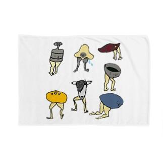 ケツアシセブン Blankets