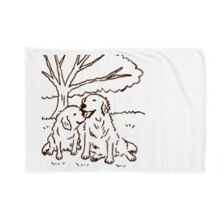 木漏れ日和ゴールデンレトリーバー Blankets